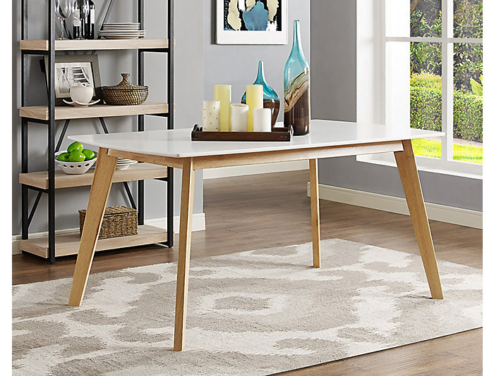 "Retro White 60"" Dining Table, , large"