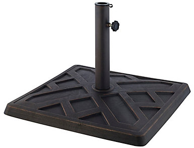 Square Bronze Umbrella Base, , large