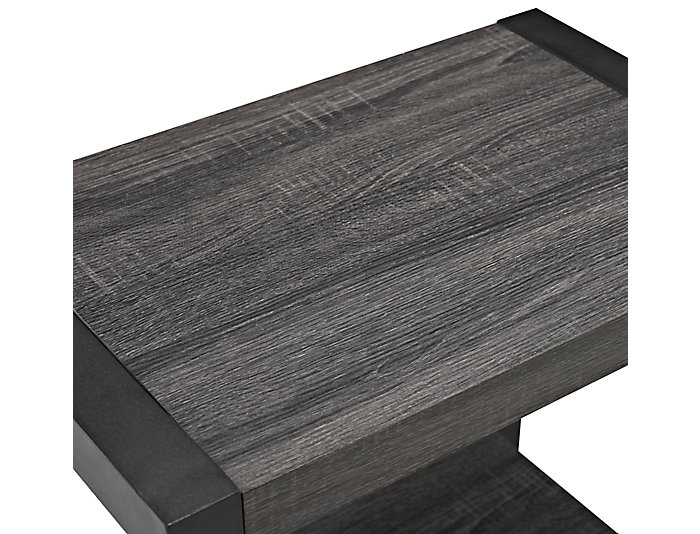 Ty Charcoal End Table, Brown, , large