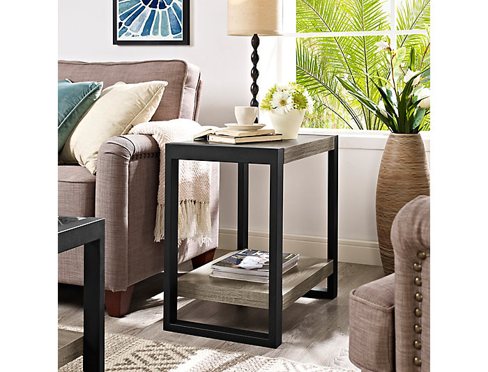 Micah Driftwood End Table, , large