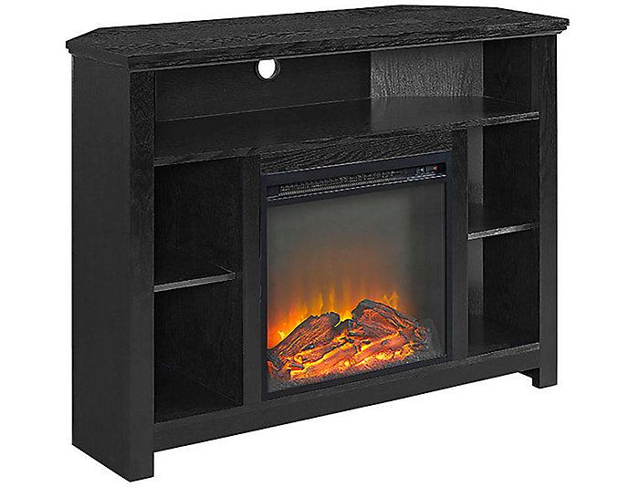 "Meyer 44"" Black Fireplace, , large"