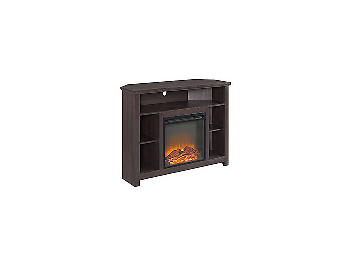 """44"""" Brown Fireplace TV Stand, , large"""