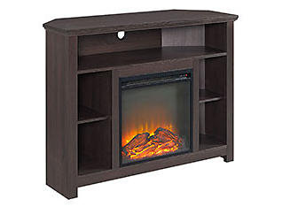 "44"" Brown Fireplace TV Stand, , large"