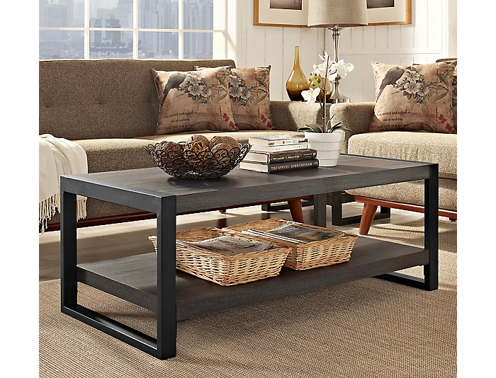 Ty Charcoal Coffee Table, Brown, , large