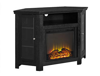 "AJ 48"" Corner Black Fireplace, , large"