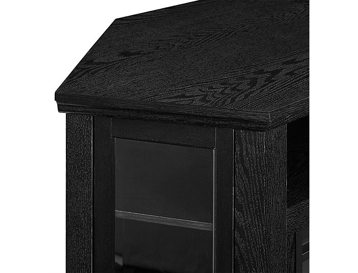 "48"" Black Fireplace TV Stand, , large"