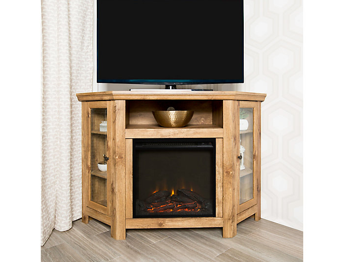 """48"""" Brown Fireplace TV Stand, , large"""
