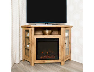 "48"" Brown Fireplace TV Stand, , large"