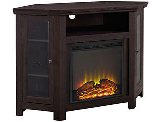 "48"" Espresso Fireplace TV, , large"