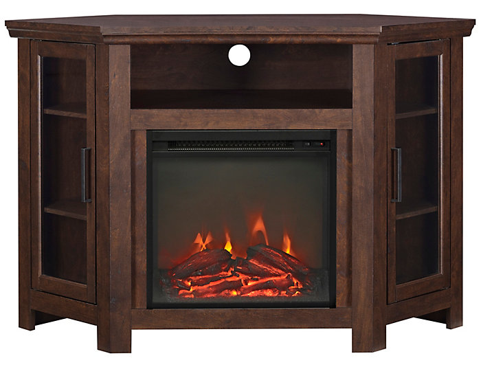 "AJ 48"" Corner Brown Fireplace, , large"
