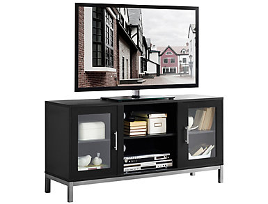 "Andy 52"" TV Stand, Black, , large"