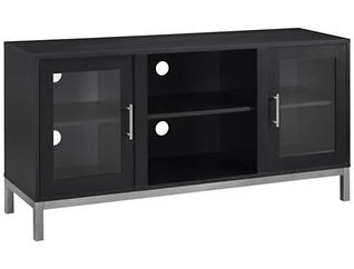 "Andy 52"" TV Stand, Black, large"