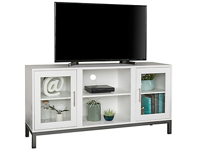 "Andy 52"" White TV Stand, , large"