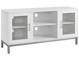 "Andy 52"" TV Stand, White, large"