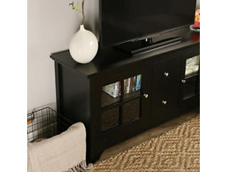 """Rory 52"""" Black TV Stand, Black, large"""