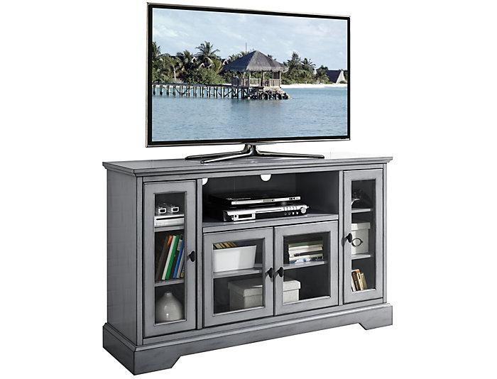 """Ben 52"""" Grey Highboy TV Stand, , large"""