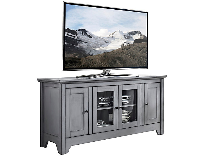 """Ace 52"""" Antique Grey TV Stand, , large"""