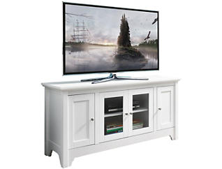 """Ace 52"""" White TV Stand, , large"""