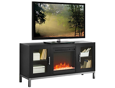 "Andy 52"" Black Fireplace, , large"
