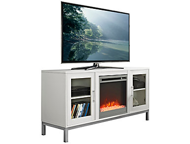 "Andy 52"" White Fireplace, , large"