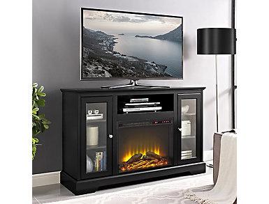 "Ryden 52"" Black Fireplace TV Stand, , large"