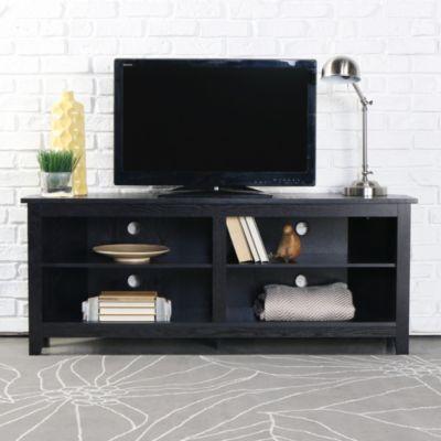 Elba 58 Corner Tv Stand Black Swatch