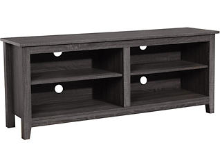 """Royce 58"""" Charcoal TV Stand, , large"""