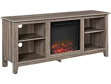 "Nori 58"" Driftwood Fireplace, , large"