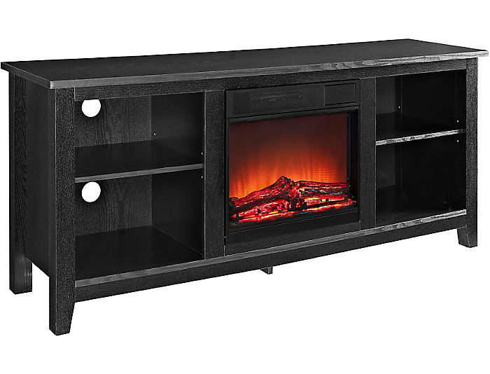 "Nori 58"" Black Fireplace, , large"