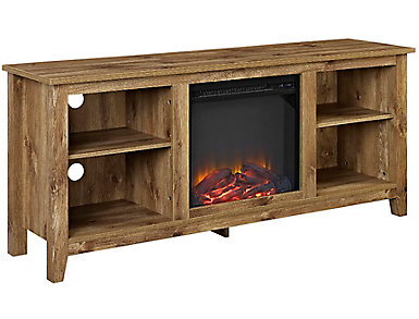 "Nori 58"" Barnwood Fireplace, , large"