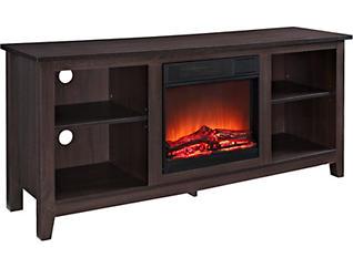 """Nori 58"""" Espresso Fireplace, , large"""