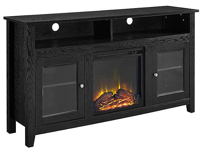 "Nico 58"" Black Fireplace, , large"
