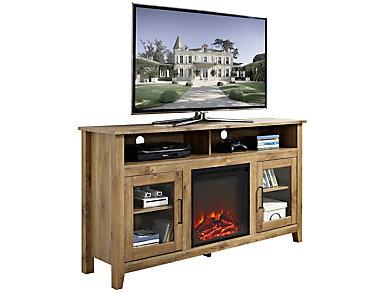 """Nico 58"""" Barnwood Fireplace, , large"""