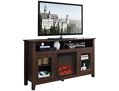 "Nico 58"" Brown Fireplace, , large"