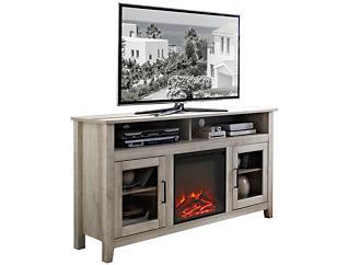 """Nico 58"""" White Fireplace, , large"""