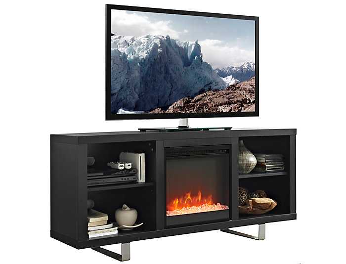 "Andy 58"" Black Fireplace, , large"