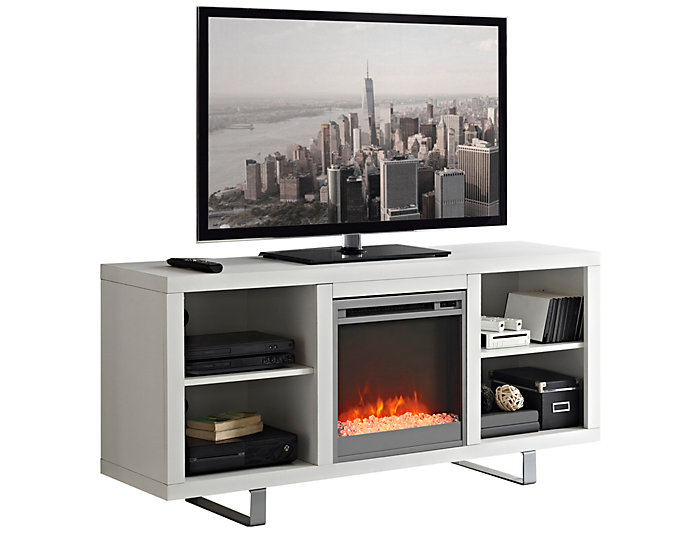 "Andy 58"" White Fireplace, , large"