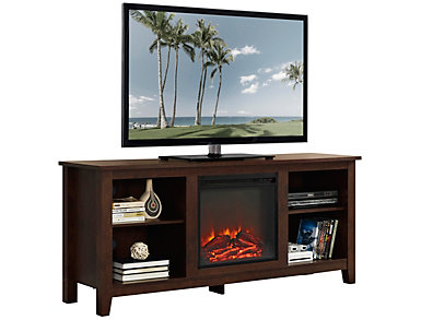 "Nori 58"" Brown Fireplace, , large"