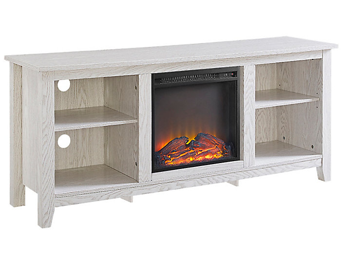 """58"""" White Fireplace TV Stand, , large"""
