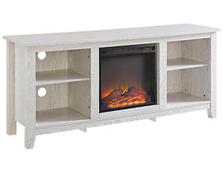 "Nori 58"" White Fireplace, , large"