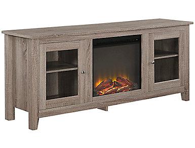 """Levi 58"""" Driftwood Fireplace, , large"""