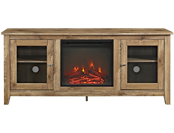 """Levi 58"""" Barnwood Fireplace, , large"""