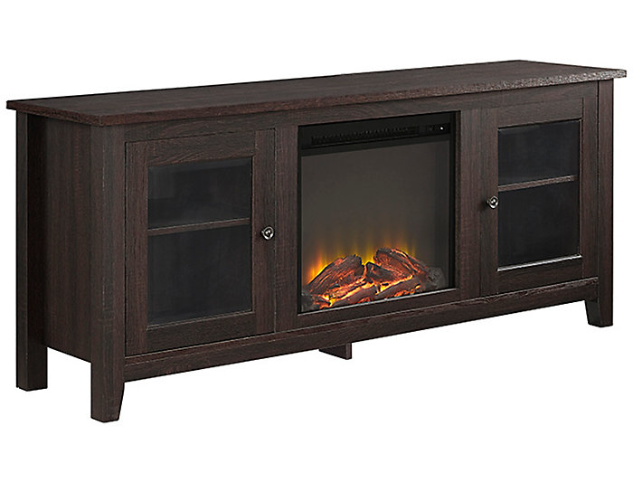 "58"" Brown Fireplace TV Stand, , large"