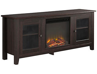 "Levi 58"" Espresso Fireplace, , large"