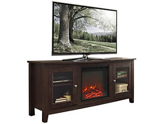 "Levi 58"" Brown Fireplace, , large"