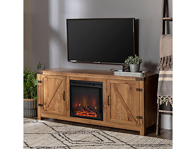 "Bo 58"" Barnwood Fireplace, , large"
