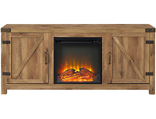 """Bo 58"""" Barnwood Fireplace, , large"""