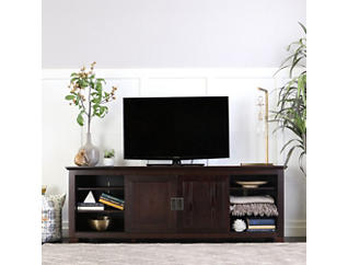 "Fresno 70"" Espresso TV Stand, Brown, large"