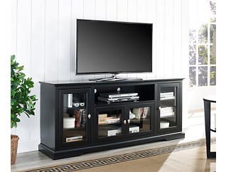 "Willow 70"" Black TV Stand, , large"