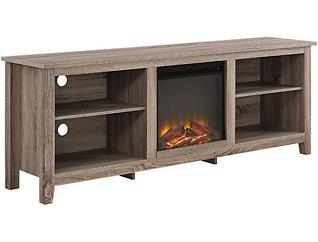 "Dean 70"" Driftwood Fireplace, , large"